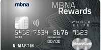 mbna world elite mastercard